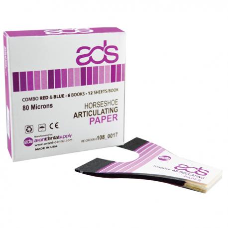 آرتیکلاتور کاغذ آرتیکلاتور دندانپزشکی - دو رنگ - ADS