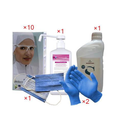 دستکش پکیج محصولات مراقبت کرونایی شماره 1